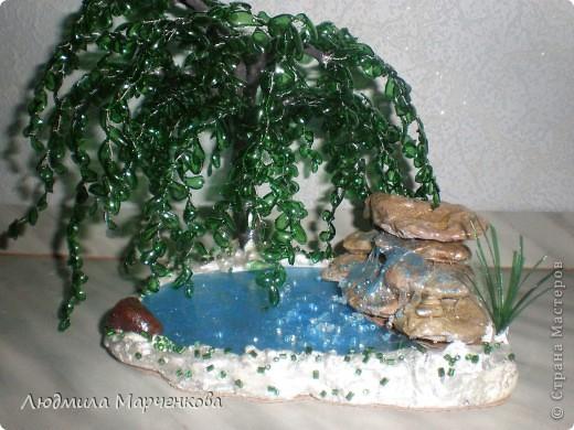 Ива из пл. бутылки + водопад. Мини МК фото 1