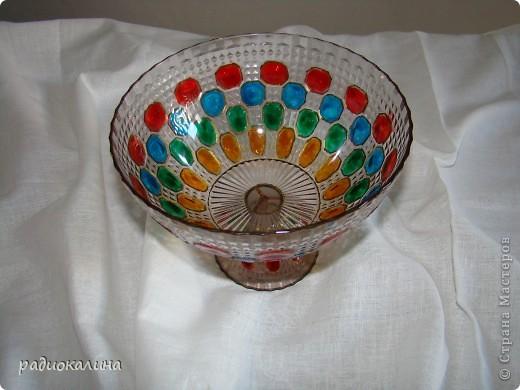 Сотворилась у меня вот такая чаша с драгоценными камнями :вся такая медная и яркая. фото 6