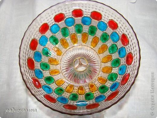 Сотворилась у меня вот такая чаша с драгоценными камнями :вся такая медная и яркая. фото 7