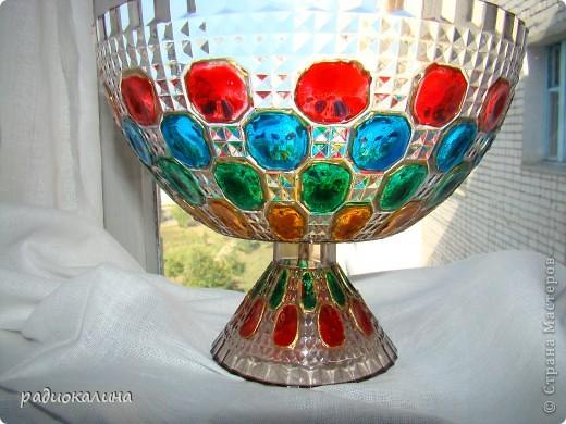 Сотворилась у меня вот такая чаша с драгоценными камнями :вся такая медная и яркая. фото 8