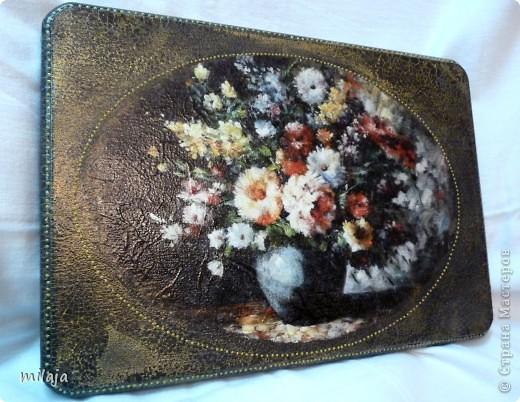 В подарок бабушке сделала 2 досточки и шкатулочку для безделушек) фото 3
