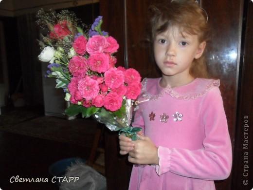 Решила попробовать себя во флористике и сделать букет на 1 сентября,с ним сын завтра в школу пойдет. фото 8