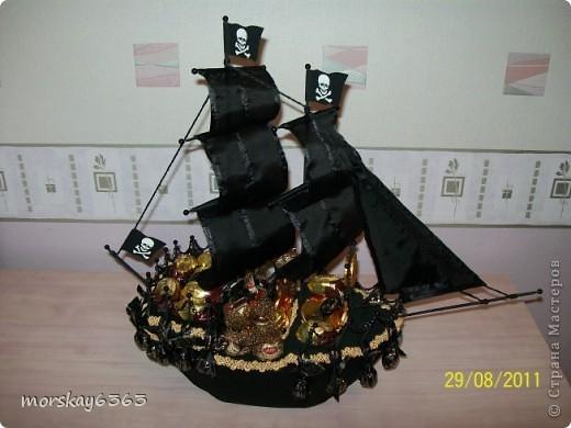 Мой первый пиратский кораблик. Буду признательна, если оставите комментарии фото 1