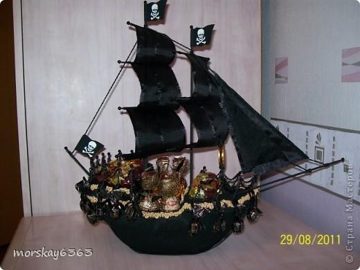 Мой первый пиратский кораблик. Буду признательна, если оставите комментарии фото 7