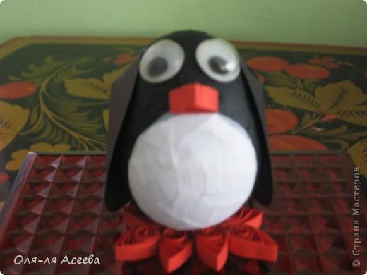 Вот такого пингвина мы сделали с сыном на пасху в детский сад.