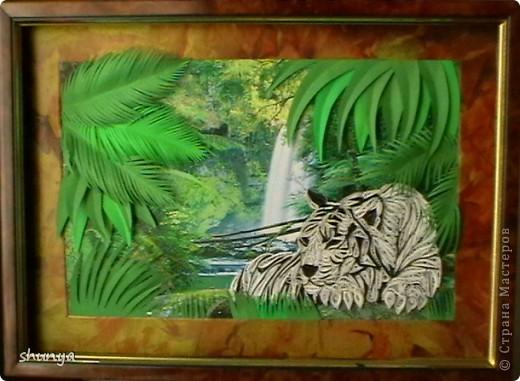 Здравствуйте! Очень давно мне не давал покоя леопард Saphir, так хотелось сделать что-то подобное. И вот... выставляю на суд жителей Страны своего тигра.  фото 1