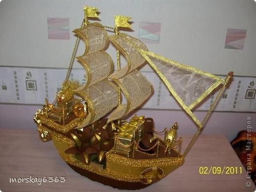 Такой подарок получит друг моего супруга на день рождения. Жена друга уже видела корабль, понравился. Буду ждать оценку именинника. фото 1