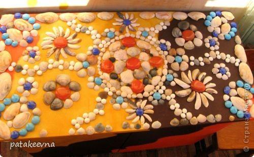 Тумбочка для коридора со столешицей из мозаики фото 5