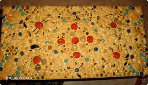 Тумбочка для коридора со столешицей из мозаики фото 7