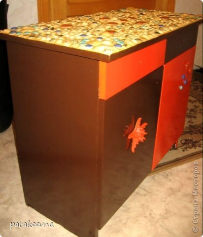 Тумбочка для коридора со столешицей из мозаики фото 1
