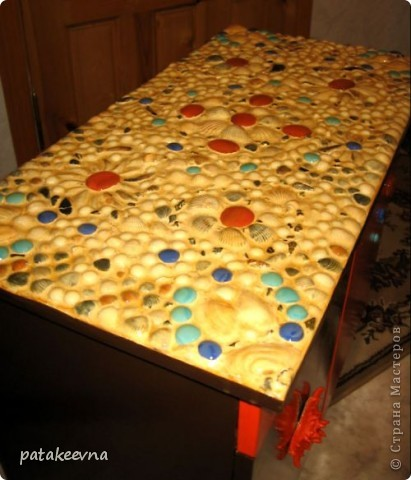 Тумбочка для коридора со столешицей из мозаики фото 8
