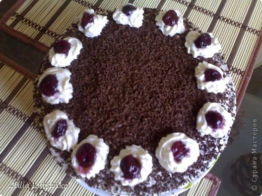 Всем доброго времени суток!  Решила немного похвастаться )))) Давно присматривалась к этому тортику, да вот повода подходящего не было. С большим удовольствием испекла его мужу на день рождения. Все гости были в восторге)))))) фото 1