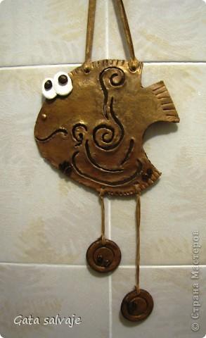 Вот и дозрела моя рыбонька :) висит свежевыкрашенная, бронзовым бочком посвечивает фото 1