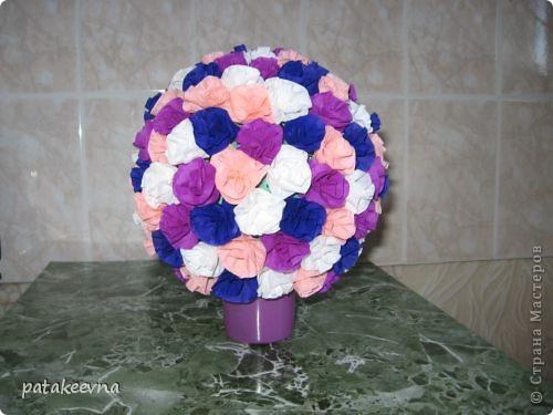 Вдохновилась работами Vitulichka http://stranamasterov.ru/node/90083?tid=451. и решила сделать подруге на день рождение подобный цветочный шар. фото 2