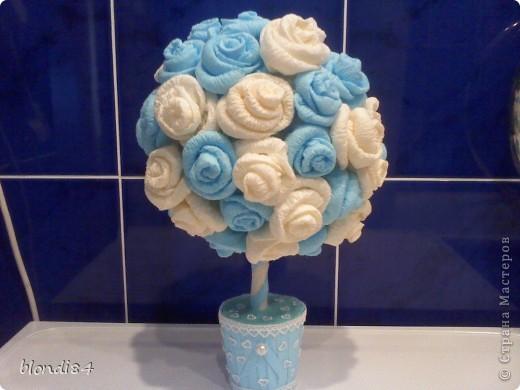 Ура! Я тоже научилась делать дерево из роз! фото 1