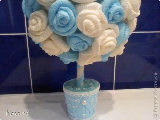 Ура! Я тоже научилась делать дерево из роз! фото 2