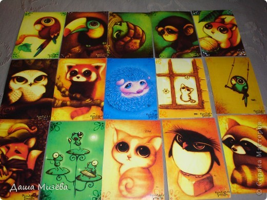 а вот все карточки под названием МИЛЫЕ ЗВЕРЮШКИ хочу чтобы выбрала ДЕСАД а кто захочет только на обмен  фото 1