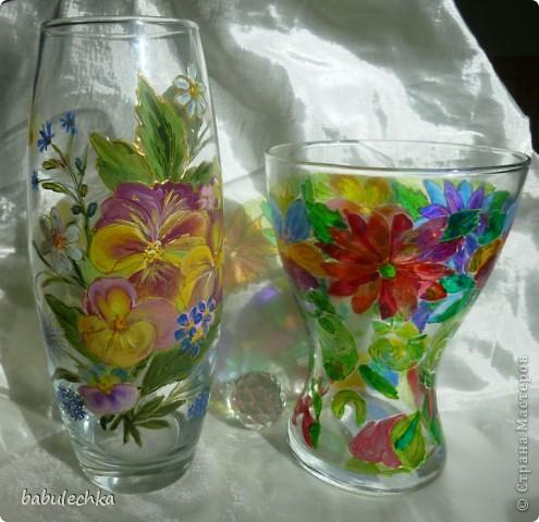 Розы в витражной вазе-очень красиво! фото 7