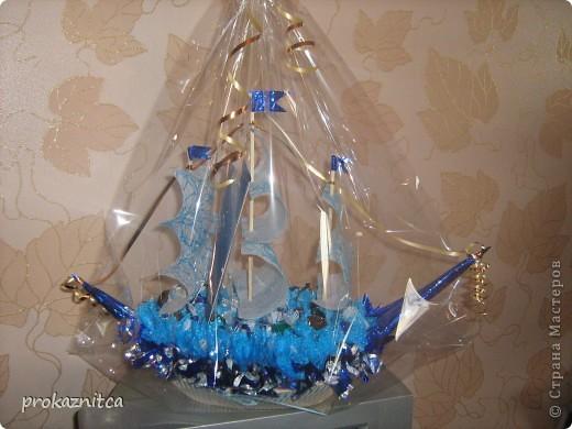 Конфетный корабль фото 1