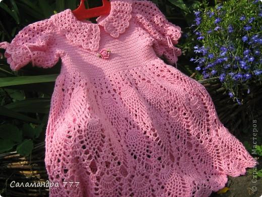 Это мое превое вязаное платьице, с него я начала вязать крючком. фото 7