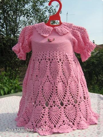 Это мое превое вязаное платьице, с него я начала вязать крючком. фото 1
