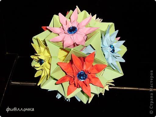 Приветствую всех жителей Страны!!! Не так давно увидела кусудаму из маргариток и решила тоже сделать, но посадить цветочки на электру. Вот что получилось... фото 1