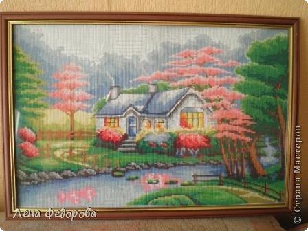 Домик в деревне Набор производства Китай. размер 30*45 см фото 1