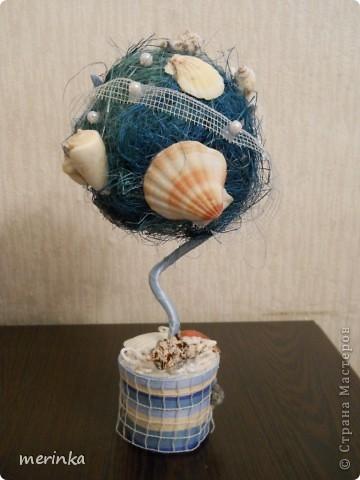 Такое ракушечное деревце у меня родилось 1 сентябра))) Идею подсмотрела в нашей любимой Стране, за что спасибо огромное всем мастерицам и мастерам!!! фото 2