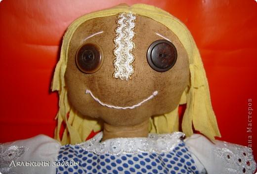 моя первая чердачная кукла.Полностью ,от первой до последней нитки моя)))) Сшита полностью на руках))) фото 2