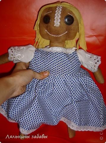 моя первая чердачная кукла.Полностью ,от первой до последней нитки моя)))) Сшита полностью на руках))) фото 3