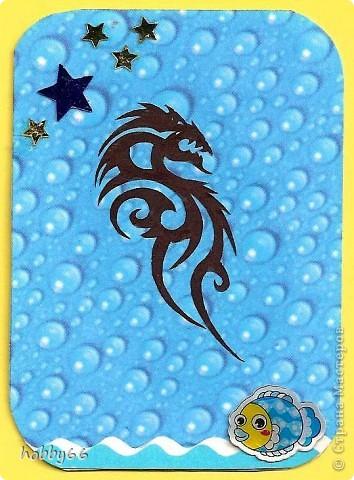 Вас приветствуют черные водяные драконы 2012... Вытынанки. фото 5