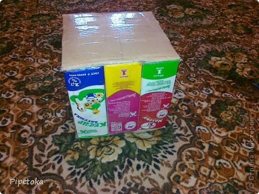 Берем пакеты из под молока фото 4