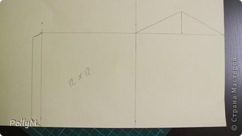 Как-то раз, лазая по инету, я натолкнулась на фотоальбом в виде домика. Идея понравилась. Но фотоальбом мне не нужен, поэтому я упростила себе задачу и решила сделать просто картонный домик. Но непременно зимний!  фото 2