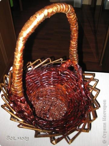 Осенняя корзина с урожаем ( декоративные тыквы с дачи) фото 3