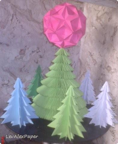 Модульная новогодняя ёлка фото 2