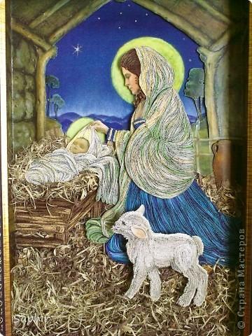Картина создана по иллюстрации Ruth Sanderson. Хотела придержать её до Рождества, но не удержалась.  фото 11
