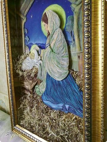 Картина создана по иллюстрации Ruth Sanderson. Хотела придержать её до Рождества, но не удержалась.  фото 3