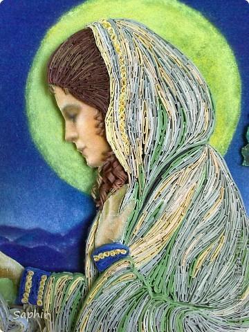 Картина создана по иллюстрации Ruth Sanderson. Хотела придержать её до Рождества, но не удержалась.  фото 9
