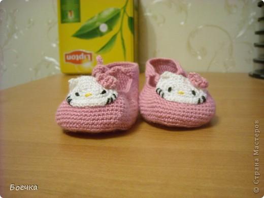 Эти милые пинетки связала для своей дочечки:) фото 2
