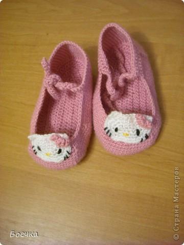 Эти милые пинетки связала для своей дочечки:) фото 1