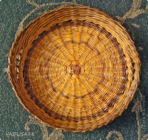 Привет!!! собрала последние плетеночки, первая - самая любимая) корзиночка под печеньки) фото 5