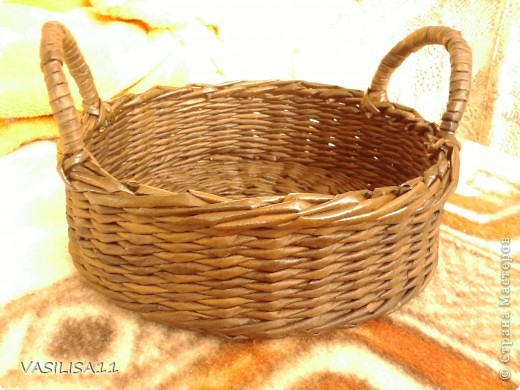 Привет!!! собрала последние плетеночки, первая - самая любимая) корзиночка под печеньки) фото 2