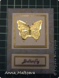 """Привет! Вот наконец-то сделала новую серию -""""Бабочки"""". Фон-ткань(тик перьевой). Цвет - голубой с золотом.  фото 5"""
