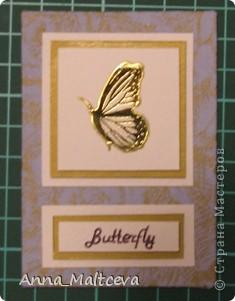 """Привет! Вот наконец-то сделала новую серию -""""Бабочки"""". Фон-ткань(тик перьевой). Цвет - голубой с золотом.  фото 6"""