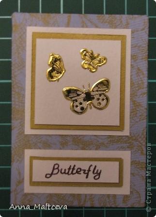 """Привет! Вот наконец-то сделала новую серию -""""Бабочки"""". Фон-ткань(тик перьевой). Цвет - голубой с золотом.  фото 9"""