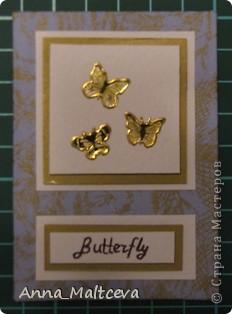 """Привет! Вот наконец-то сделала новую серию -""""Бабочки"""". Фон-ткань(тик перьевой). Цвет - голубой с золотом.  фото 10"""