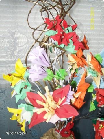 Первыи мои букет в технике оригами. фото 6
