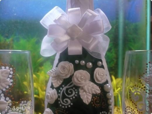 Ещё одна попытка в оформлении бутылки и бокалов фото 2