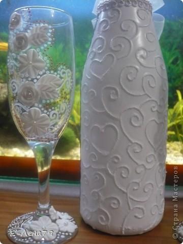 Ещё одна попытка в оформлении бутылки и бокалов фото 4
