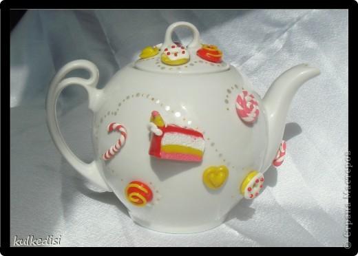 Подарок на день рождения хорошей подружке.Чайная пара с заварничком. фото 2